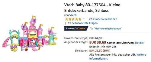 Vtech Baby 80-177504 - Kleine Entdeckerbande Schloss - jetzt 25% billiger