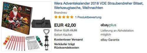 Wera  VDE Adventskalender 2018 - jetzt 9% billiger