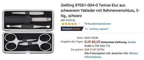 Zwilling 97061-004-0 Twinox 5-teiliges Maniküre-Set - jetzt 26% billiger