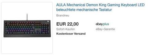 AULA Mechanical Demon King Gaming Keyboard, LED beleuchtete mechanische Tastatur - jetzt 64% billiger