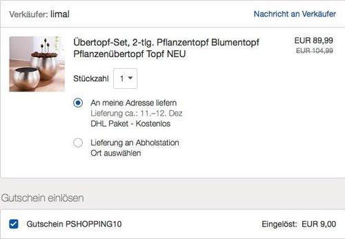 "Blumenübertopf-Set ""Silber"" 2 Größen 30 cm Ø + 40 cm Ø, Aluminium - jetzt 10% billiger"