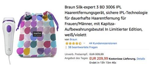 Braun Silk-expert 3 BD 3006 IPL Haarentfernungsgerät - jetzt 16% billiger