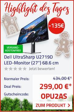 Dell UltraSharp U2719D 27 Zoll (68.6 cm) LED-Monitor - jetzt 31% billiger