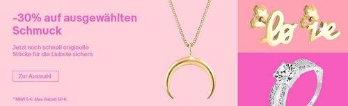Ebay - 30% Rabatt auf Julie-Grace-Schmuck: z.B. Elli 45 cm Halskette mit Kreuz, 925 Silber - jetzt 30% billiger