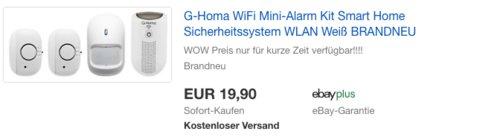 G-Homa WiFi Mini-Alarm Kit Smart Home Sicherheitssystem - jetzt 40% billiger