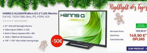 """HANNS.G HL326HPB 80cm (31,5"""") LED-Monitor - jetzt 25% billiger"""
