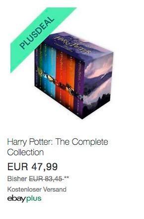 Harry Potter: The Complete Book Collection auf Englisch - jetzt 10% billiger