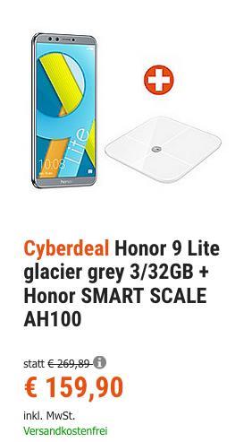Honor 9 Lite 3/32GB + Honor SMART SCALE AH100 Körperwaage - jetzt 26% billiger