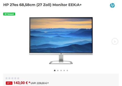 HP 27es 68,58cm (27 Zoll) Monitor - jetzt 12% billiger