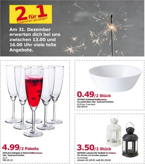 IKEA Berlin-Lichtenberg - SVALKA Sektglas 6 Stück, 2 Pakete - jetzt 50% billiger