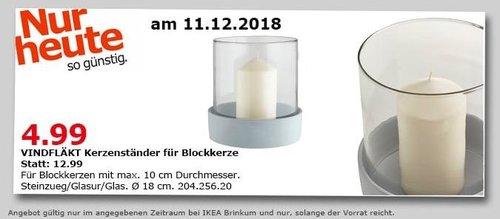 IKEA Brinkum - VINDFLÄKT Kerzenständer für Blockkerze - jetzt 62% billiger