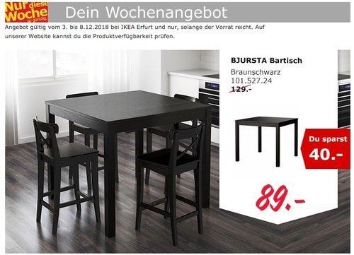 IKEA Erfurt - BJURSTA Bartisch - jetzt 31% billiger