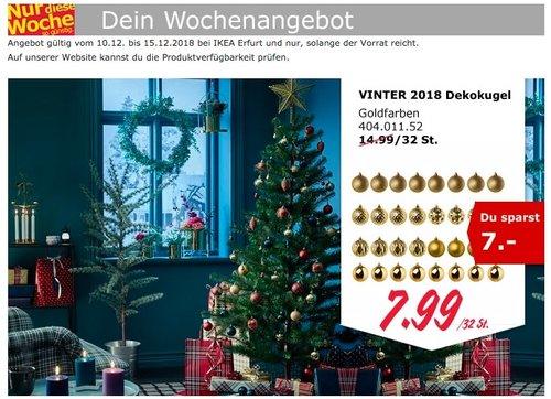 IKEA Erfurt - VINTER 2018 Dekokugel - jetzt 47% billiger