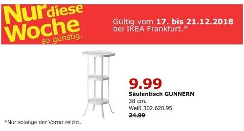 IKEA Frankfurt - GUNNERN Säulentisch - jetzt 60% billiger