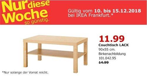 IKEA Frankfurt - LACK Couchtisch, 90x55 cm - jetzt 20% billiger