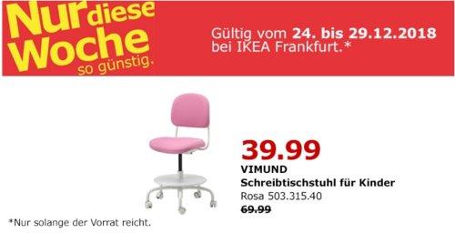 IKEA Frankfurt - VIMUND Schreibtischstuhl für Kinder, rosa - jetzt 43% billiger