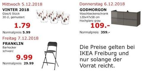 IKEA Freiburg - GODMORGON Waschbeckenschrank, 120x47x58 cm, Hochglanz grau - jetzt 70% billiger
