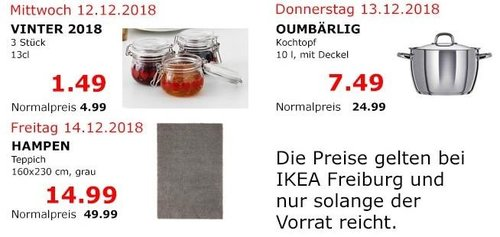 IKEA Freiburg - OUMBÄRLIG Kochtopf, 10 Liter - jetzt 70% billiger