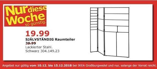 IKEA Großburgwedel - SJÄLVSTÄNDIG Raumteiler - jetzt 50% billiger