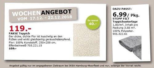 IKEA Hamburg-Moorfleet - FAKSE Teppich, 250x200 cm - jetzt 25% billiger