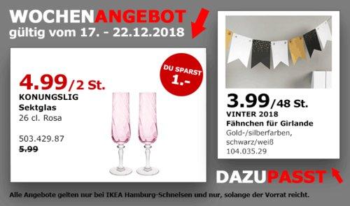 IKEA Hamburg-Schnelsen - KONUNGSLIG Sektglas 2St - jetzt 17% billiger