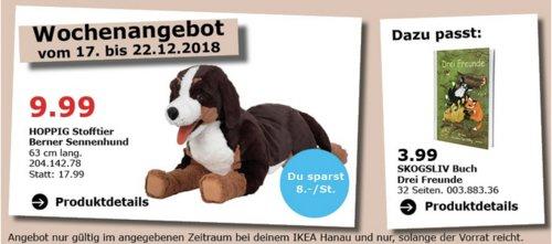IKEA Hanau - HOPPIG Stofftier Berner Sennenhund - jetzt 44% billiger