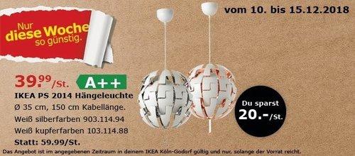 IKEA Köln-Godorf - PS 2014 Hängeleuchte - jetzt 33% billiger