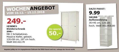 IKEA Kaarst - HEMNES Kleiderschrank mit 2 Schiebetüren - jetzt 17% billiger