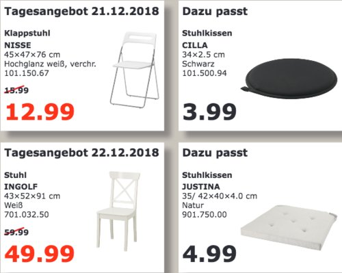 IKEA Kaiserslautern - NISSE Klappstuhl - jetzt 19% billiger