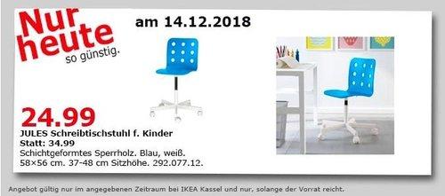 IKEA Kassel - JULES Schreibtischstuhl für Kinder - jetzt 29% billiger