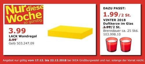 IKEA Großburgwedel - LACK Wandregal, 30 cm, gelb - jetzt 33% billiger