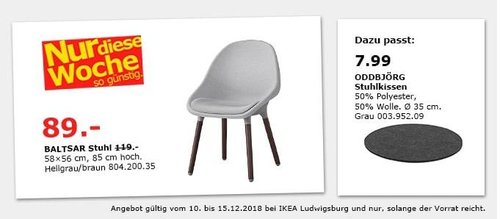 IKEA Ludwigsburg - BALTSAR Stuhl, hellgrau/braun - jetzt 25% billiger