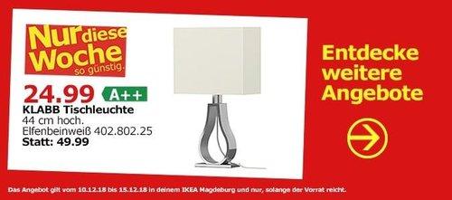 IKEA Magdeburg - KLABB Tischleuchte - jetzt 40% billiger