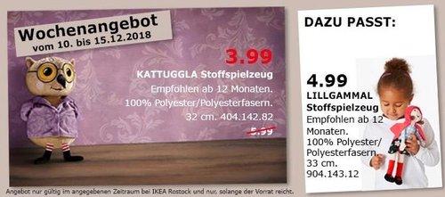 IKEA Rostock - KATTUGGLA Stoffspielzeug - jetzt 33% billiger