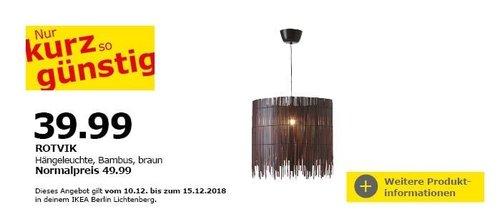 IKEA ROTVIK Hängeleuchte, Bambus - jetzt 20% billiger