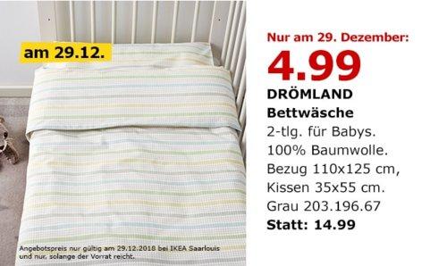 IKEA Saarlouis - DRÖMLAND Bettwäsche für Babys, 2-tlg - jetzt 67% billiger