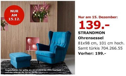 IKEA Saarlouis - STRANDMON Ohrensessel - jetzt 30% billiger
