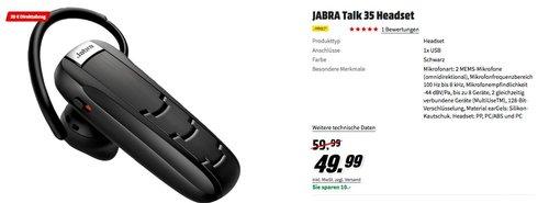 JABRA Talk 35 Bluetooth-Headset - jetzt 40% billiger