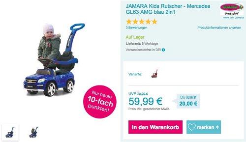 JAMARA Kids Rutscher - Mercedes GL63 AMG blau - jetzt 13% billiger