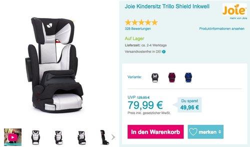 """Joie Kindersitz """"Trillo Shield"""", Gruppe 1/2/3 - jetzt 29% billiger"""