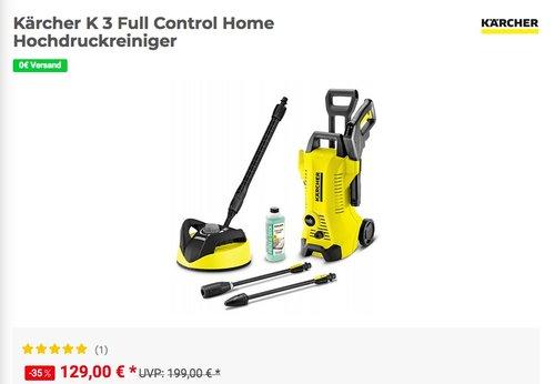 Kärcher K 3 Full Control Home Hochdruckreiniger inkl. Flächenreiniger T 350 - jetzt 8% billiger
