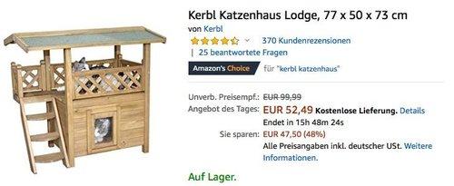Kerbl Katzenhaus Lodge - jetzt 24% billiger