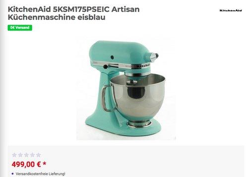 KitchenAid 5KSM175PSEIC Artisan Küchenmaschine In Eisblau - jetzt 5% billiger
