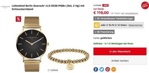 Liebeskind Berlin Quarzuhr »LS-0038-MQB«  mit Schmuckarmband - jetzt 17% billiger