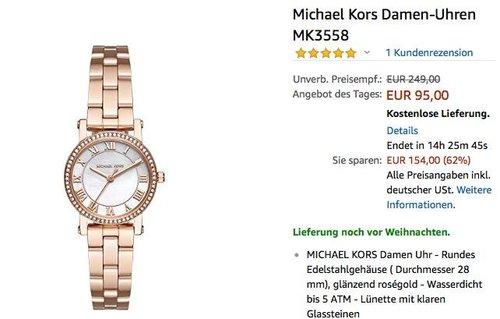 Michael Kors Damenuhr MK3558 - jetzt 46% billiger