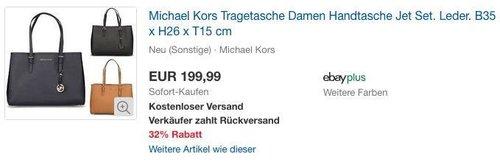 Michael Kors Tragetasche Damen Leder Handtasche Jet Set ( 30T3GTVT7L) - jetzt 20% billiger