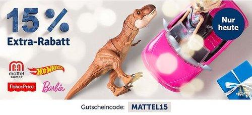 myToys - 15 % Rabatt auf Artikelder Marke Mattel: z.B. Barbie 2-in-1 Krankenwagen Spielset (mit Licht & Geräuschen) - jetzt 14% billiger