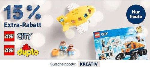 myToys - 15 % Rabatt auf LEGO DUPLO und LEGO City: z.B. LEGO 10869 DUPLO: Ausflug auf den Bauernhof - jetzt 14% billiger