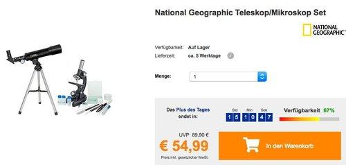 National Geographic Teleskop/Mikroskop Set - jetzt 24% billiger