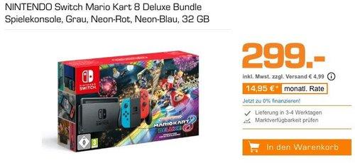 NINTENDO Switch Mario Kart 8 Deluxe Bundle Spielekonsole, 32 GB - jetzt 18% billiger